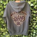 WILDWESTDAYS  zip hood / WWD LA BACKPRINT (Color: olive / brown)