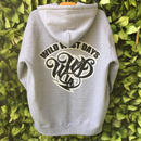 WWD zip hood / WWD LA BACKPRINT (color: gray / black)