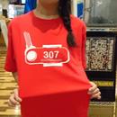 【温泉銭湯オリジナルTシャツ】脱衣ロッカーキー307 赤
