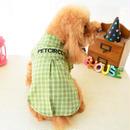 犬服 チェック柄ペット服 ペット用品 2色 シャツ