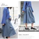 【レディース】タータンチェック柄フレアスカート 全3色