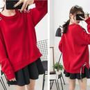 リボン付きセーター/ニット/レディース/大きいサイズ