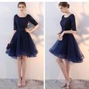 結婚式ドレス チュール フィッシュテイル ネイビー ブラック