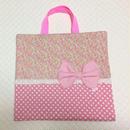中 ブックカバー 小花 ピンク