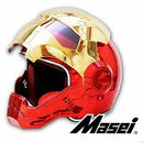 フルフェイス 海外ブランド 高品質 アイアンマンタイプ ヘルメット フルカラー おしゃれ 新品【S M L XL XXL】