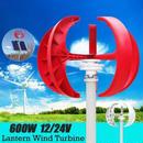 600 ワット  5 ブレード 風力発電機 電源垂直軸 レッドランタンエネルギー 充電器コントローラ