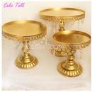 ケーキスタンド ゴールド シルバー 金属鉄 クリスタルネックレス カップケーキ 結婚式の装飾品 ベーキングケーキ アクセサリーツール