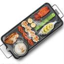 家庭用 韓国式電気グリル 48×28cm 電気ベーキングパン 韓国鉄板焼き ノンスティックバーベキューグリル