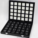 宝石ルースケース60個+オーガナイザーセット 大量 携帯用 ポータブルボックス 原石 ディスプレイ トランクショー 宝石箱