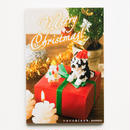 【NP046】nanoblock®クリスマスカード 〜ハスキー犬〜