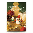 【NP062】nanoblock®クリスマスカード 〜雪だるま〜