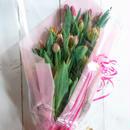 チルド便対応・チューリップだけの贅沢な花束(ギフト用25本入り)