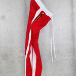 ■EssentialTrackPants■Red×White■