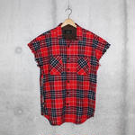 ■EssentialCutOFFShirt■RED■