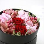 母の日期間限定[Flower BoxアレンジS]RED/プリザーブドフラワー