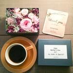 母の日期間限定[Flower & Coffee SET]Flower Box M(PINK)+メッセージドリップバック2種5個セ