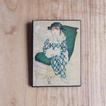 antiques ピカソの「Paul as Harlequin」の絵のパネル