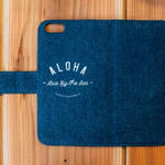 iPhone7対応 DENIM ダイアリーカバー ALOHA Live By The Sea