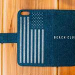 iPhone7対応 DENIM ダイアリーカバー BEACH CLUB The Star-Spangled Banner