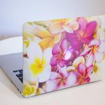 Mac Bookハードカバー Plumeria Collection フローラル