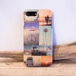 iPhone 7Plus対応 CALIFORNIA フォトコラージュウッドカバー