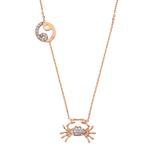 Rose Gold 925 Zodiac necklace Cancer /かに座