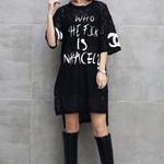 シャネル好きに 人気ロングTシャツ 可愛い お買い得 デカサイズあり 送料無料