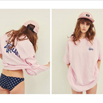 ステューシー/STUSSY Tシャツ ピンク ホワイト 男女兼用