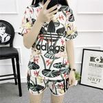 アディダスセットアップ 人気美品 レディース愛用 半袖 adidas