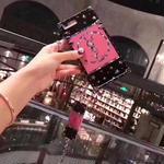 新入荷 イヴ・サンローランモバイルケース yves saint laurentIphoneケース カバー ピンク レディース