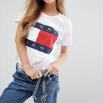 Tommy Hilfiger/トミーヒルフィガー Tシャツ 男女兼用 2色 激安! 人気 半袖 春