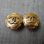 正規品 箱付き ヴィンテージ CHANEL シャネル ココマーク 19mm イヤリング ゴールド NO26(c-225)