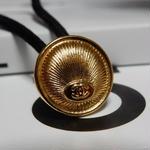 ヴィンテージ CHANEL シャネル ボタン ココマーク 16mm ゴールドデザイン ヘアゴムのおまけ付(c-166)