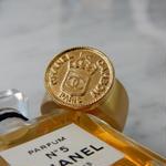ヴィンテージ CHANEL シャネル ボタン ココマーク 16mm コインデザイン ゴールドボタン 指輪 #12号 オリジナルリングのおまけ付(c-139)