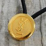 ヴィンテージ Yves Saint-Laurent イブサンローラン YSLゴールドボタン  25mm ボタン ゴールド ヘアゴムのおまけ付(y-3)