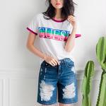 ゲストプリントユニークTシャツ
