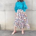 再入荷asymmetrical ruffle skirt