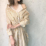 corset shirt dress YELLOW