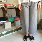 F/style : 亀田縞のワイドパンツ (薄地)