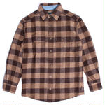 WOOLRICH(ウールリッチ)【6135-BRN】-L/S SHIRT-MNS-WOOL BUFFALO SHI-BROWN