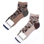 Rototo/ロトト【R1041】CAMO SHORT SOCKS コットン カモ ショート ソックス 靴下-メンズ 日本製