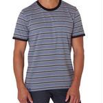 PACT/パクト【S13-MSC-GRS】メンズ Tシャツ MEN'S-CREW NECK-GRAVEL STRIPE