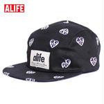 【62697-BLK】ALIFE NYC[エーライフ] HEARTS 5 PANELS CAP 5パネルキャップ BLACK/ブラック