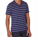 PACT/パクト【S13-MSV-AMS】メンズ Tシャツ MEN'S-V- NECK-AMERICANA STRIPE