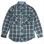 WOOLRICH/ウールリッチ【6114-DIN】(シャツ/長袖/コットン/ウォッシュ加工)-L/S SHIRT-MNS MINERS WASH FLAN-BLUE