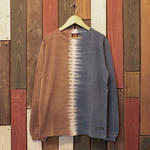 "JAVARA ""CENTERLINE""L/S tee(navy&brown)"