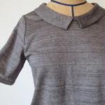 リネン衿付きカットソー / atelier naruse