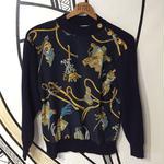 【奇抜】エルメススカーフ柄デザインシャツセーター