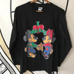 【レア】USA製 Disney ミッキー&ミニー HANES パロディ ロングTシャツ