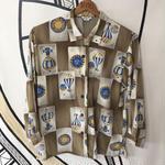 【一点物】タロットカード デザイン 日本製 柄シャツ